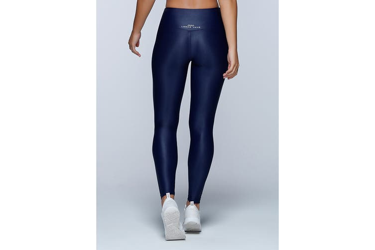Lorna Jane Women's Metallic Core F/L Leggings (Ink, XS)