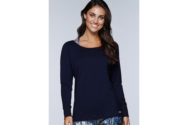 Lorna Jane Women's Cascade Active Long Sleeve Top (Ink, XS)