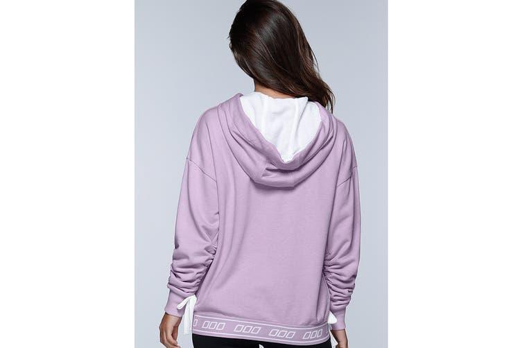 Lorna Jane Women's Off Beat Hoodie Jacket (Soft Lilac Marl, XL)