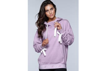 Lorna Jane Women's Off Beat Hoodie Jacket (Soft Lilac Marl)