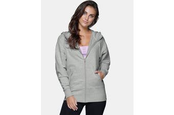 Lorna Jane Women's Weekender Zip Jacket (Light Grey Marl)