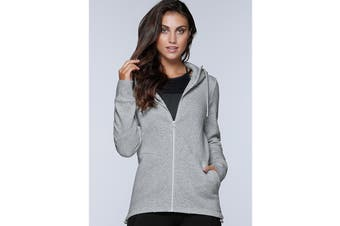Lorna Jane Women's Performance Tech Hoodie Jacket (Grey Marl)
