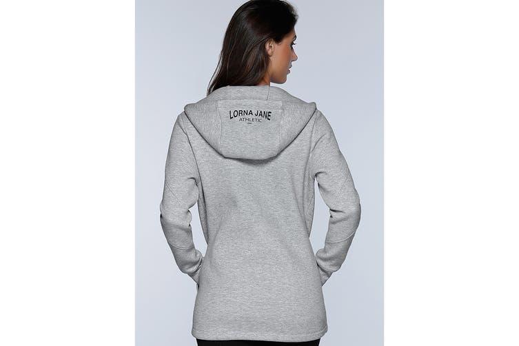 Lorna Jane Women's Performance Tech Hoodie Jacket (Grey Marl, XS)