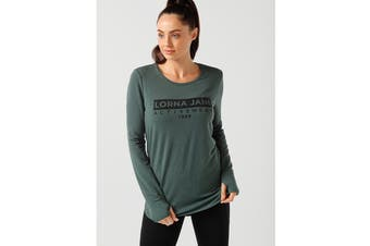 Lorna Jane Women's Classic Long Sleeve Active Top (Military Marl, S)