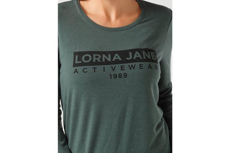 Lorna Jane Women's Classic Long Sleeve Active Top (Military Marl, XL)