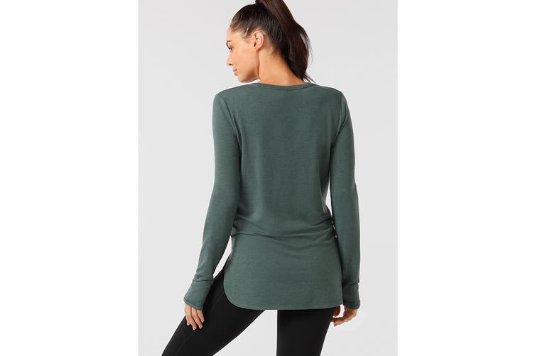 Lorna Jane Women's Classic Long Sleeve Active Top (Military Marl, XXS)