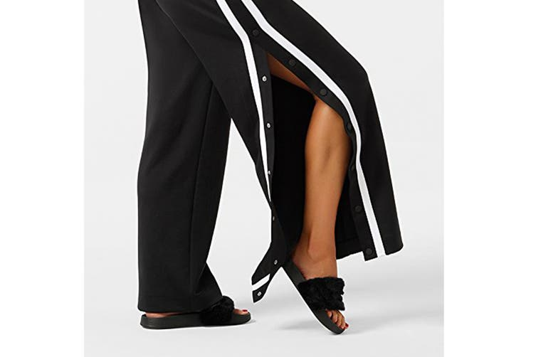 Lorna Jane Women's All Day Active Track Pants (Black/White, Size L)