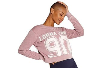Lorna Jane Women's Dancer Cropped Sweat Top (Pale Mauve)