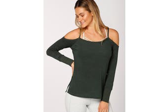Lorna Jane Women's Practice Long Sleeve Top (Fig Green, XL)