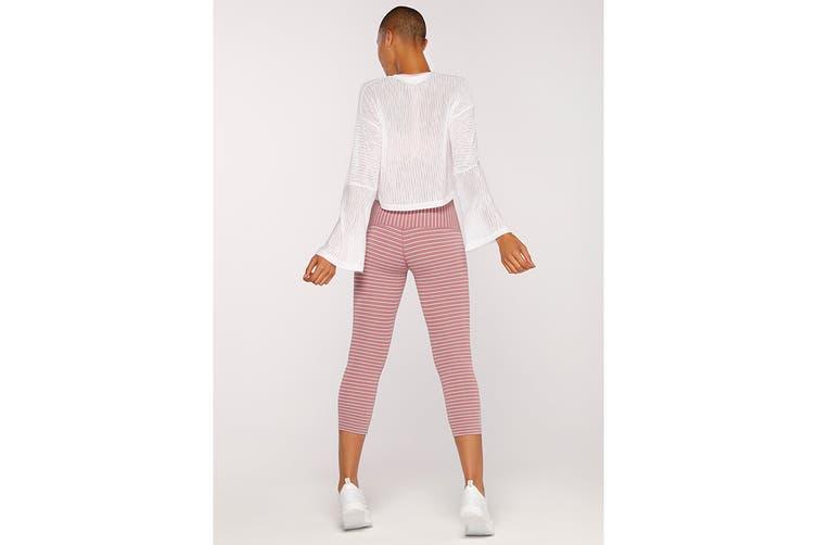 Lorna Jane Women's Layla Long Sleeve Top (White, XXS)