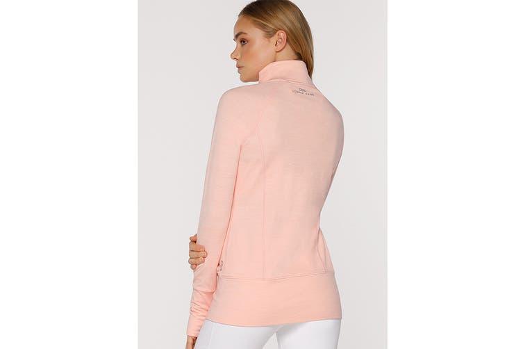 Lorna Jane Women's Louella Active Long Sleeve Jacket (Peach Marl, L)