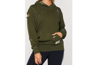 Lorna Jane Women's Hustler Hoodie Jacket (Luxury Green)