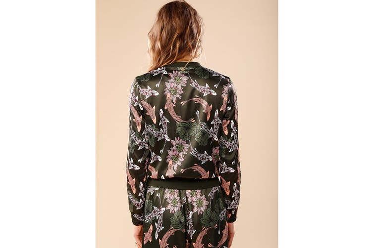 Lorna Jane Women's Carpe Diem Bomber Jacket (Carpe Diem Print, L)