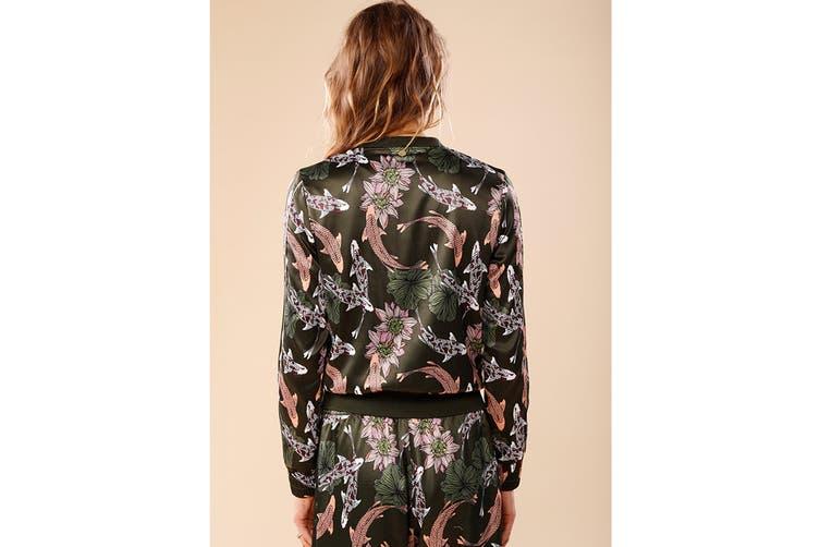 Lorna Jane Women's Carpe Diem Bomber Jacket (Carpe Diem Print, S)