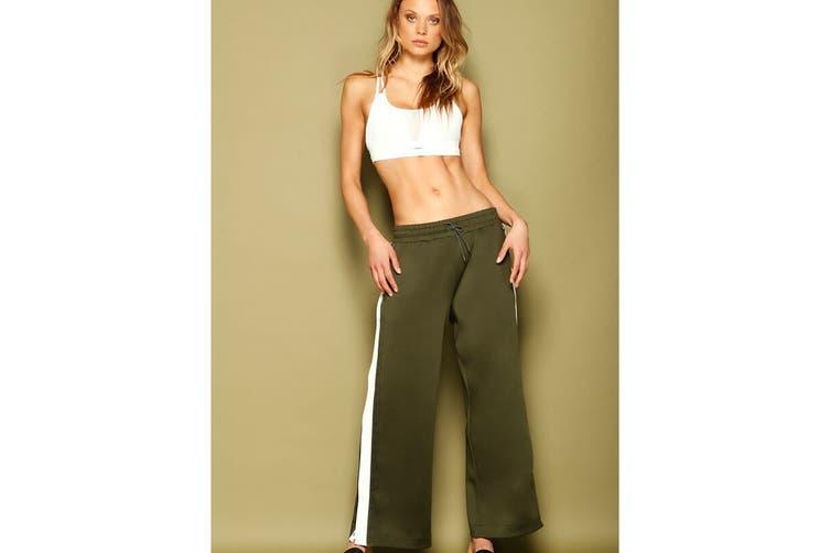 Lorna Jane Women's Grandeur Active Snap Pants (Luxury Green, Size L)