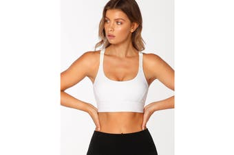 Lorna Jane Women's Rebound Sports Bra (White)