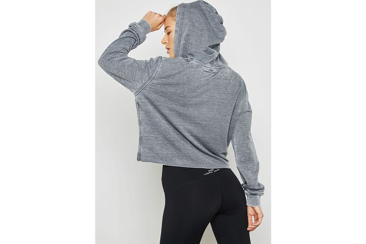 Lorna Jane Women's Vintage Cropped Hood Jacket (Stone Wash Grey, XS)