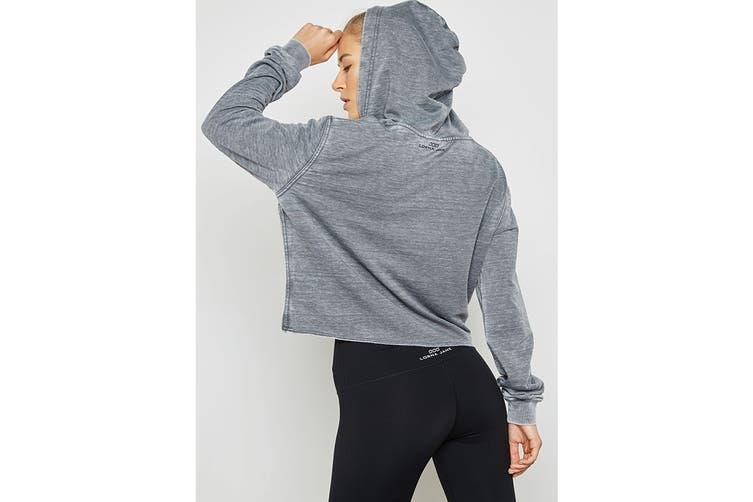 Lorna Jane Women's Vintage Cropped Hood Jacket (Stone Wash Grey, XXS)