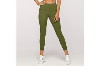 Lorna Jane Women's Fleur Core Ankle Leggings (Super Green)