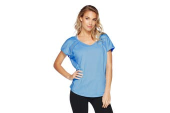 Lorna Jane Women's Synergy Lightweight Top (Breeze Blue)