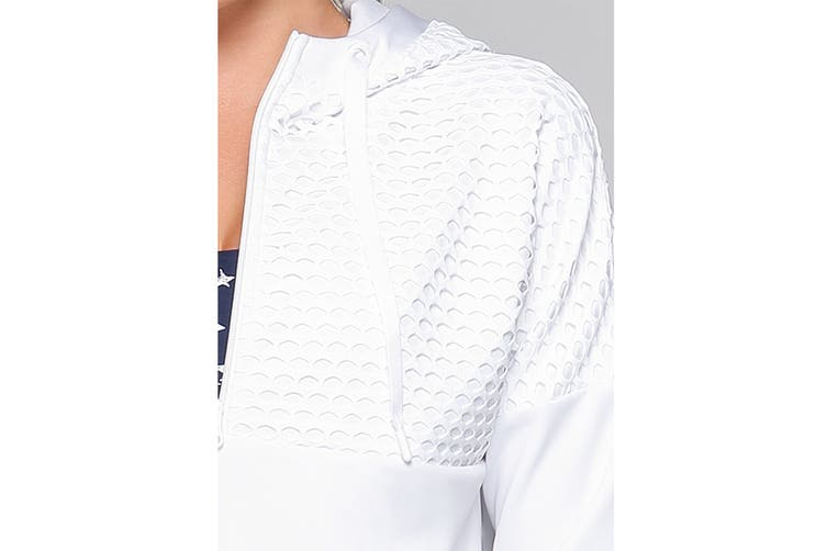 Lorna Jane Women's Street Hoodie Jacket (White, L)