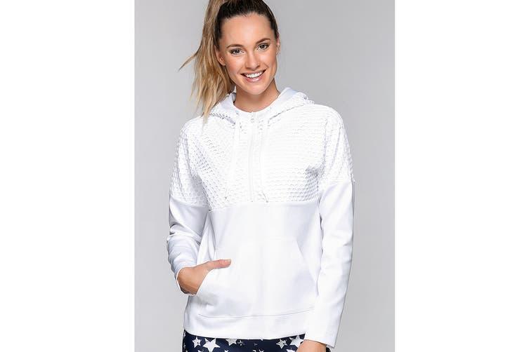 Lorna Jane Women's Street Hoodie Jacket (White, XL)