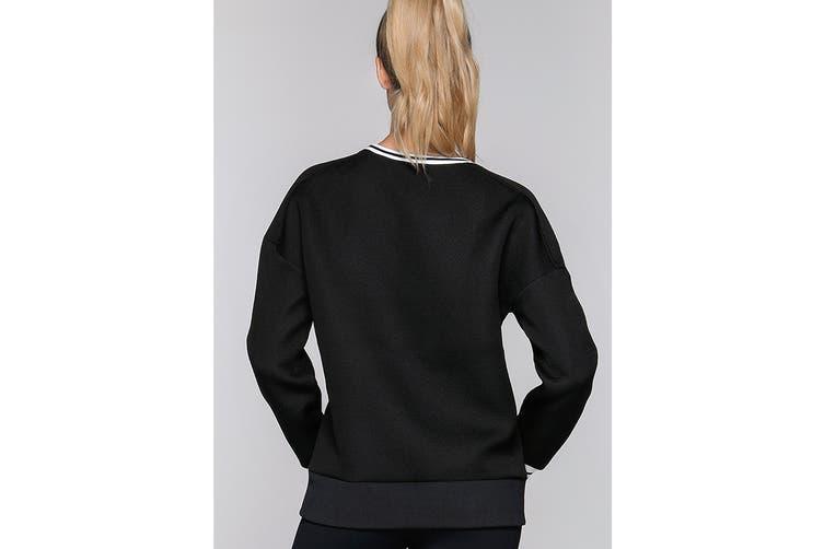 Lorna Jane Women's Adventurous Soul Long Sleeve Top (Black, S)