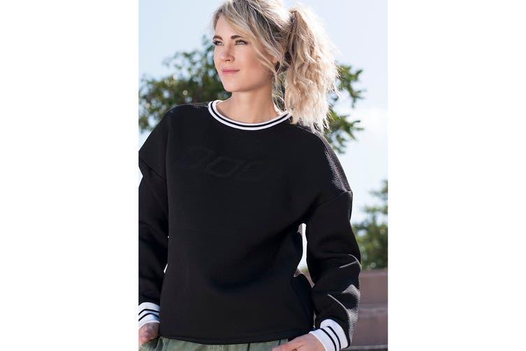Lorna Jane Women's Adventurous Soul Long Sleeve Top (Black, XL)