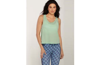 Lorna Jane Women's Double Time Active Tank Top (Peppermint Marl, S)
