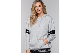 Lorna Jane Women's Game Time Hoodie Jacket (Mid Grey Marl)