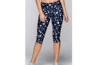 Lorna Jane Women's Galactic Core 3/4 Leggings (Galactic Print)