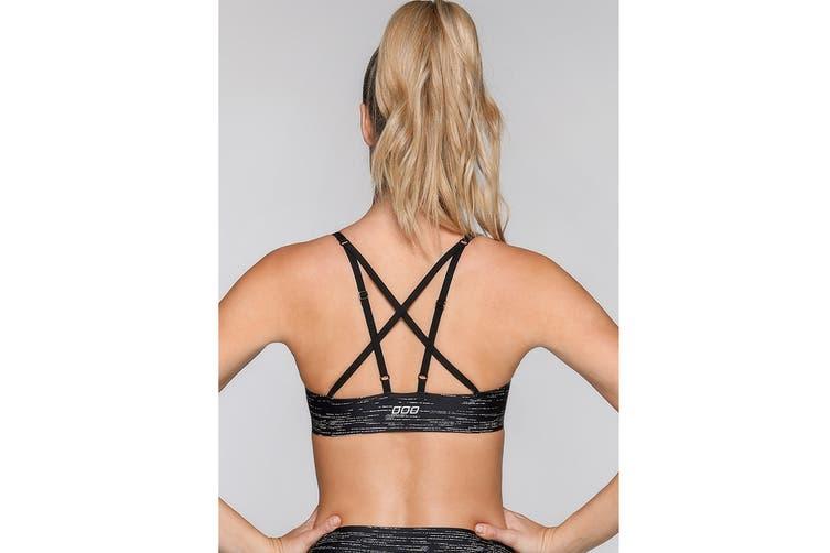 Lorna Jane Women's Virtually Invisible Sports Bra (Black Marl, XXS)