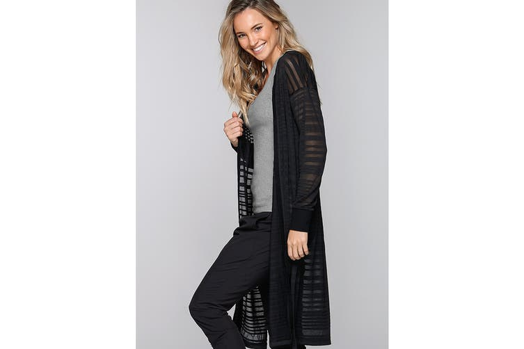 Lorna Jane Women's Happy Traveller Cardigan Top (Black, XS)