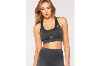 Lorna Jane Women's Diamond Seamless Sports Bra (Washed Black, L)