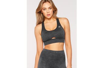 Lorna Jane Women's Diamond Seamless Sports Bra (Washed Black, XS)