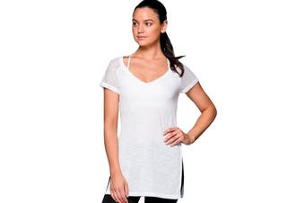 Lorna Jane Women's Time Out T-Shirt (White, Size XS)