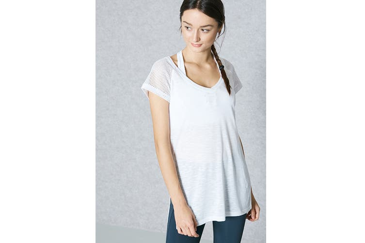 Lorna Jane Women's Time Out T-Shirt (White, Size M)