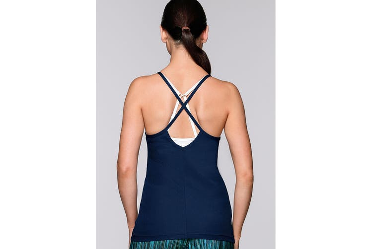 Lorna Jane Women's Outline Excel Tank Top (Cosmo, Size M)