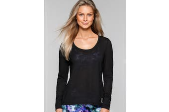 Lorna Jane Women's Premonition Long Sleeve Excel Top (Black)