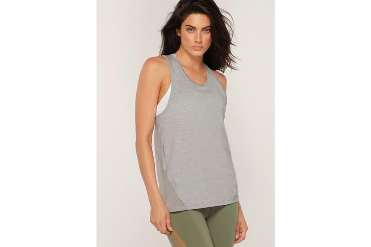 Lorna Jane Women's Squats Active Tank Top (Grey Marl, L)