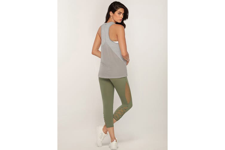 Lorna Jane Women's Squats Active Tank Top (Grey Marl, XL)