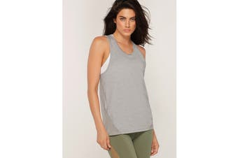Lorna Jane Women's Squats Active Tank Top (Grey Marl, XXS)