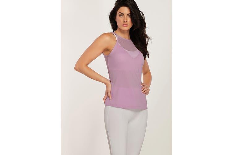 Lorna Jane Women's Pursuit Excel Tank Top (Soft Lilac, XL)