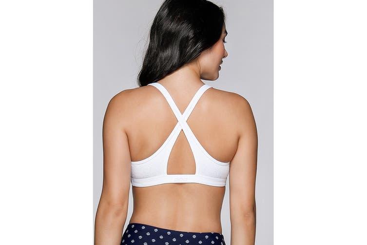 Lorna Jane Women's Entwine Sports Bra (White, Size L)