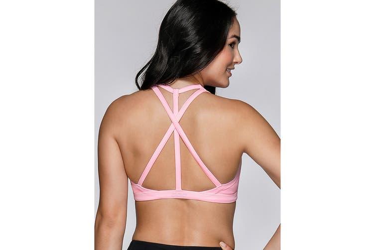 Lorna Jane Women's Azure Sports Bra (Baby Pink Marl, Size L)