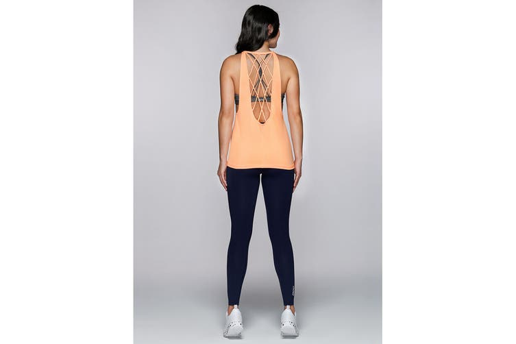 Lorna Jane Women's Dazzle Excel Tank Top (Hot Apricot, Size M)