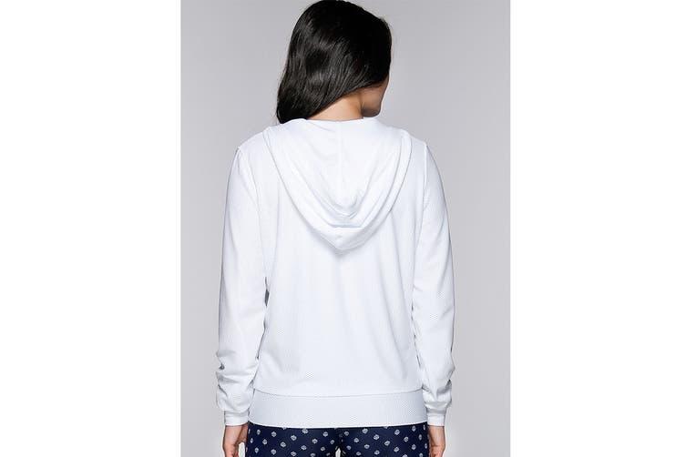 Lorna Jane Women's Arctic Long Sleeve Excel Zip Jacket (White, L)