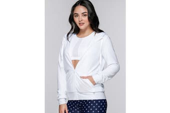 Lorna Jane Women's Arctic Long Sleeve Excel Zip Jacket (White)