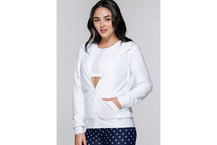 Lorna Jane Women's Arctic Long Sleeve Excel Zip Jacket (White, XS)
