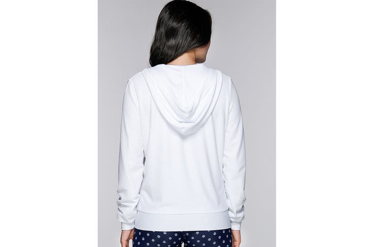 Lorna Jane Women's Arctic Long Sleeve Excel Zip Jacket (White, XXS)